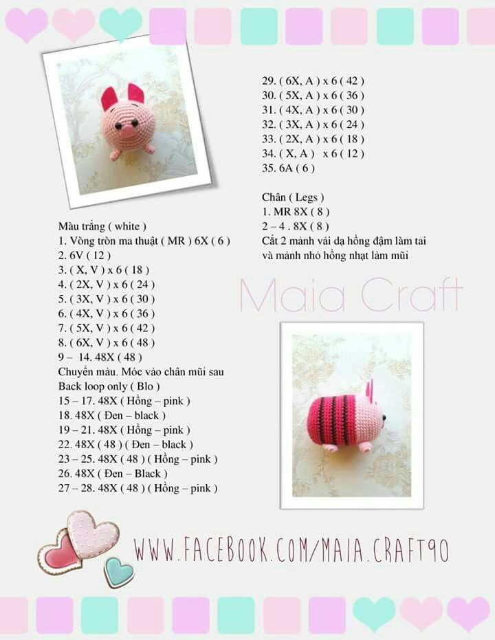 Chanchito mini | crochet | Pinterest