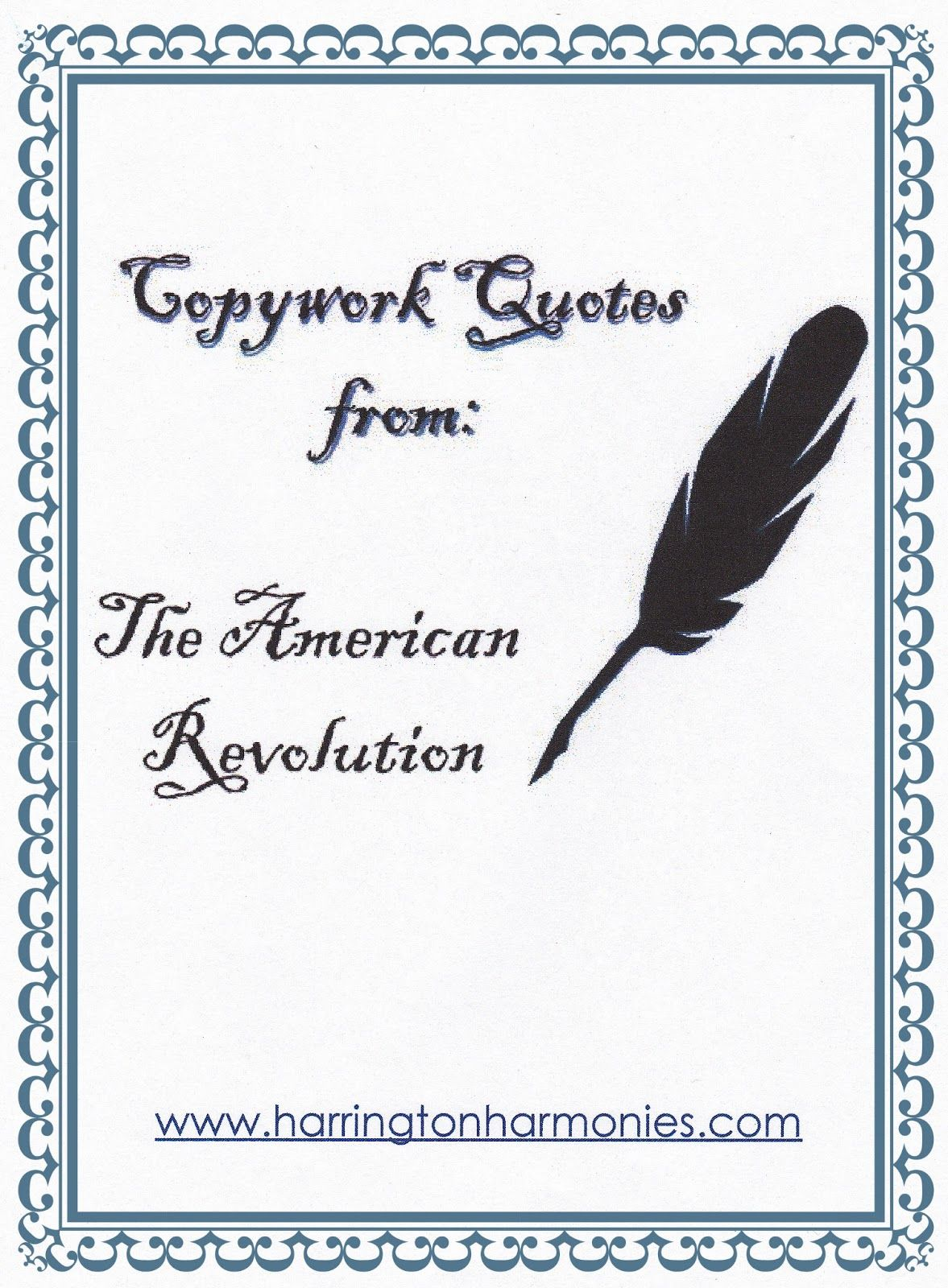 Revolutionary War Quotes American Revolution Copywork Quotes  Ag Doll History Class