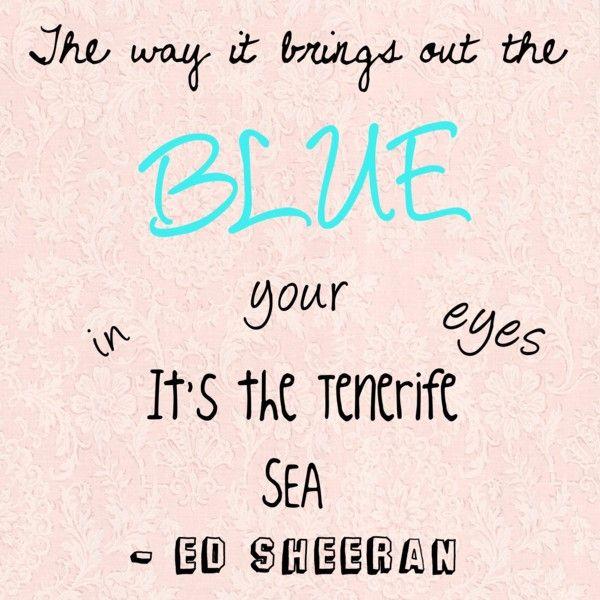 Tenerife Sea- Ed Sheeran | Tenerife sea