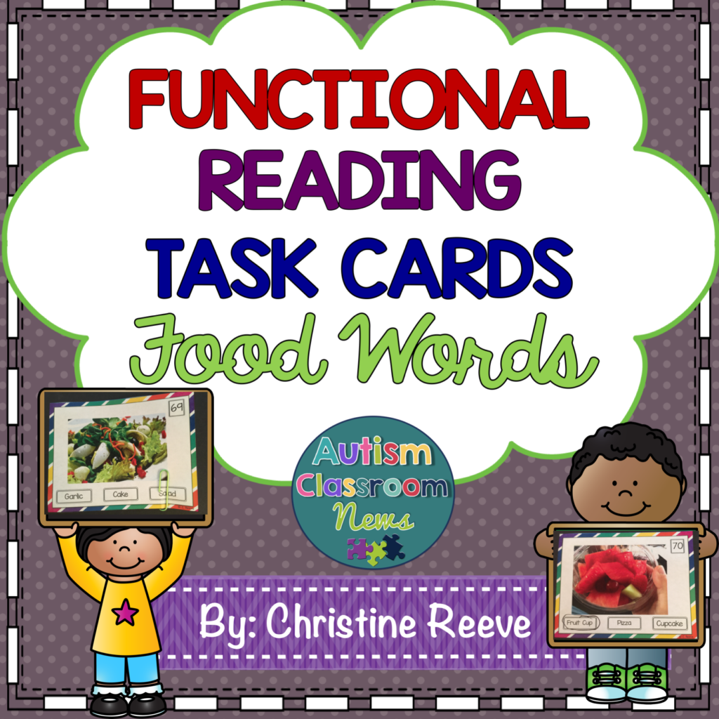 Grocery Words Fair Functional Sight Word Task Cards Update And Holiday Freebies  Tasks .