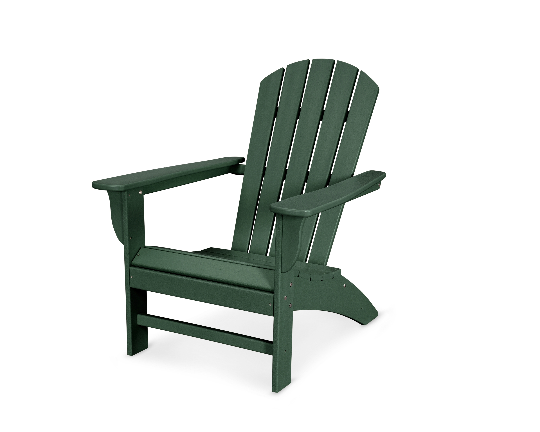 Polywood Emerson Shellback Adirondack Chair Green Plastic