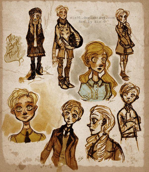 The Book Thief Fanart Desenhos Ilustracao Meninas