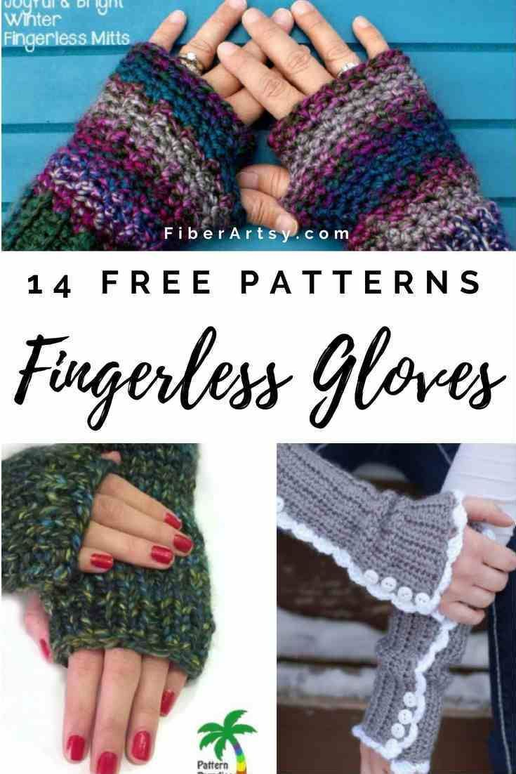 14 Knit and Crochet Fingerless Gloves Patterns by | Crochet ...