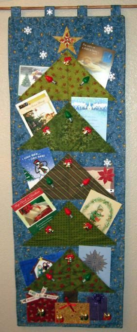 Starry Starry Night Christmas Card Holder Pattern Only With