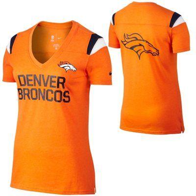 best service a39d8 9a008 Nike Denver Broncos Ladies Fan T-Shirt - Orange | BRONCOS ...