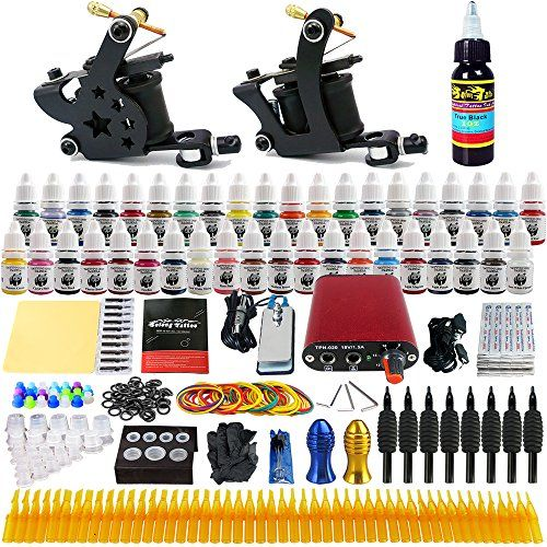Solong Tattoo Complete Tattoo Kit 2 Pro Machine Guns 40 Inks Power Supply Foot Pedal Needles Grips Tips TK257 -- You can get more details by clicking on the image.