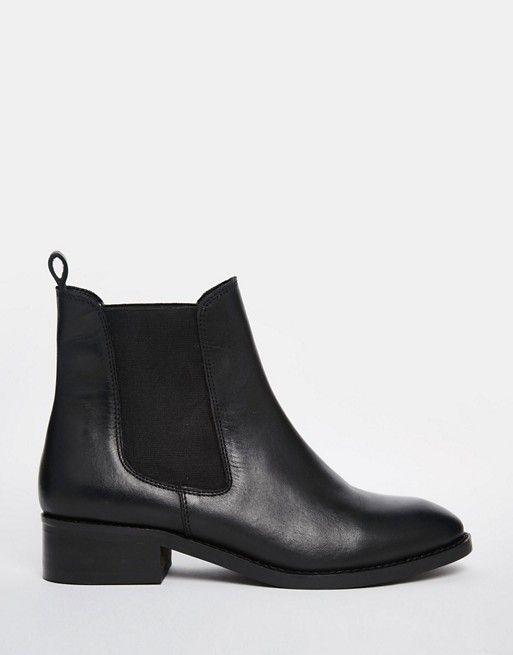 ec79b3872f69d8 ASOS – ATTRIBUTE – Chelsea-Ankle Boots aus Leder