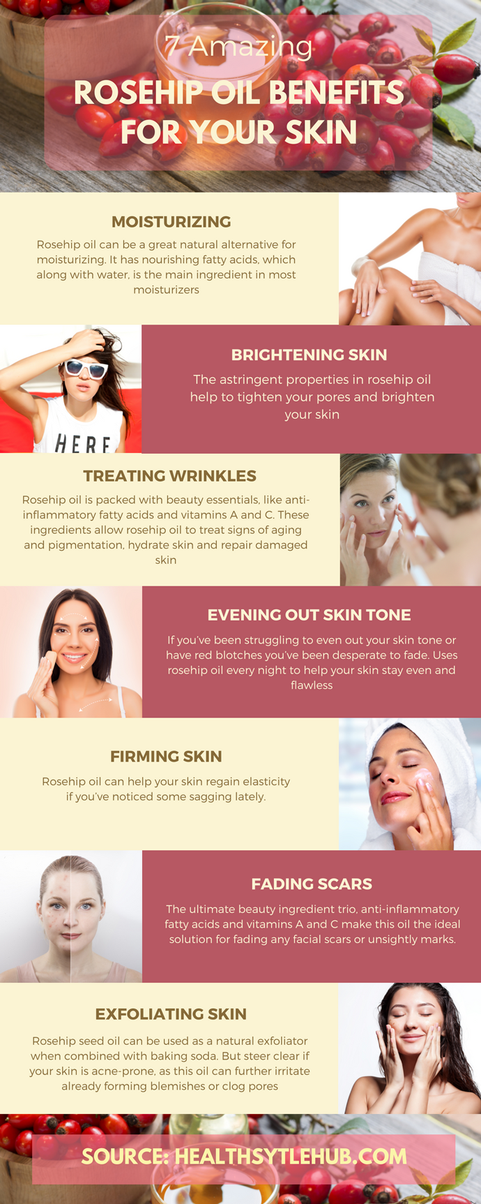 7 Amazing Rosehip Oil Benefits For Your Skin Rosehip Oil Benefits Oils For Skin Oil Benefits