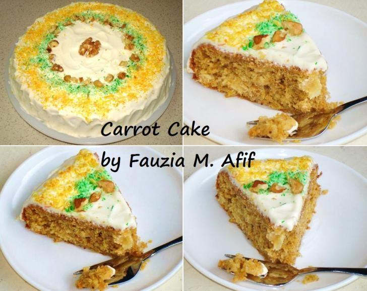 Carrot Cake Fauzias Kitchen Fun
