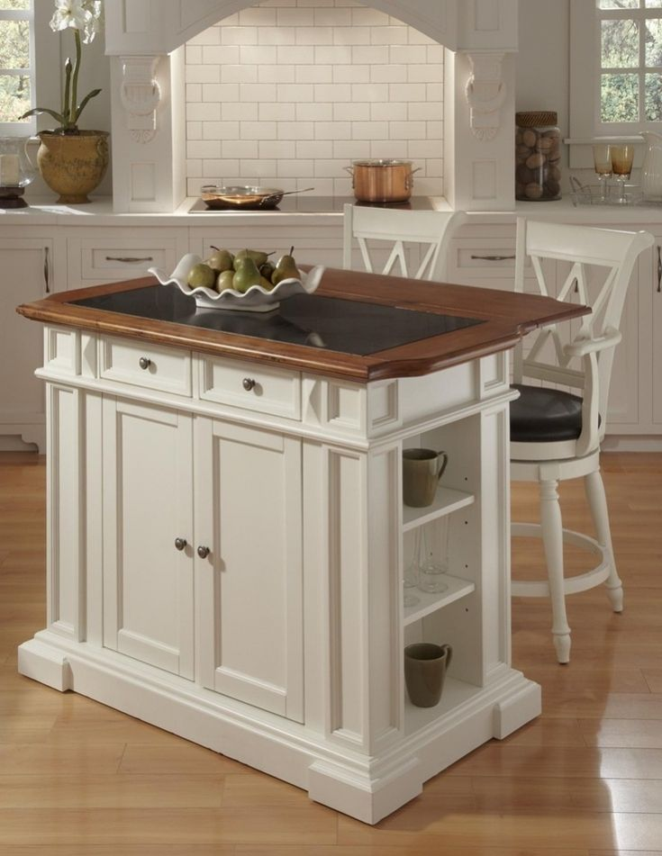 Luxury Portable Kitchen Island With Bar Stools | Portable ...