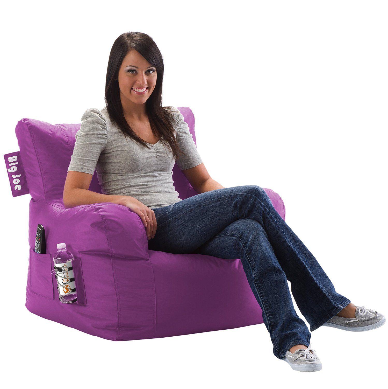 Amazon Com Big Joe Dorm Chair Radiant Orchid Kitchen Dining Bean Bag Chair Bean Bag Lounger Bean Bag