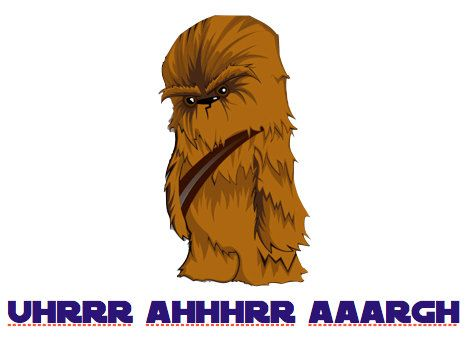 Star Wars Chewbacca Happy Birthday Card On Etsy 500 Funnies