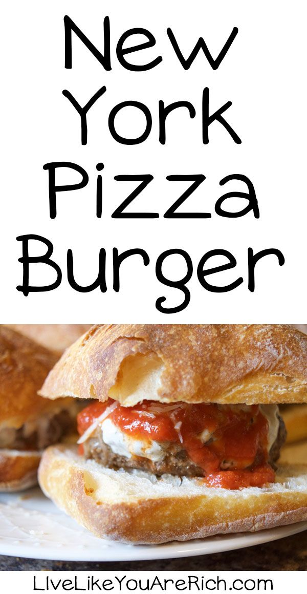 New York Pizza Burger A Delicious must-try recipe/combination! #LiveLikeYouAreRich