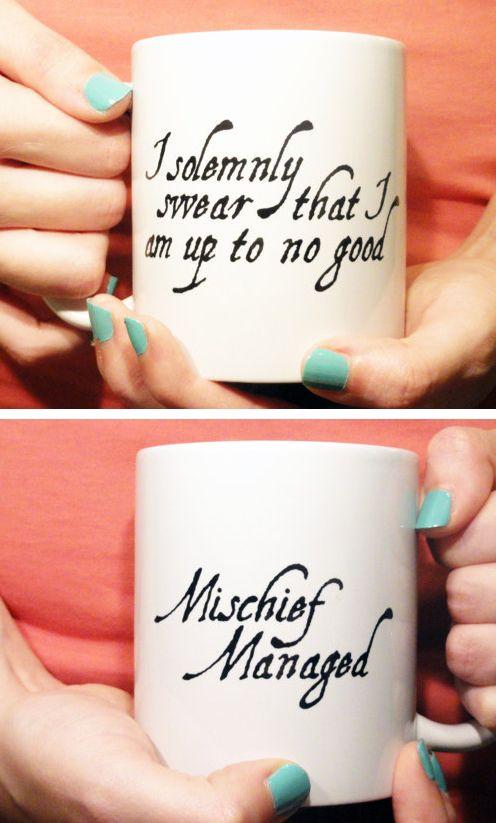i solemnly swear i am up to no good mischief managed harry potter mug i. Black Bedroom Furniture Sets. Home Design Ideas