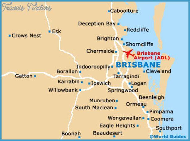 Brisbane Map Tourist Attractions httptravelsfinderscom