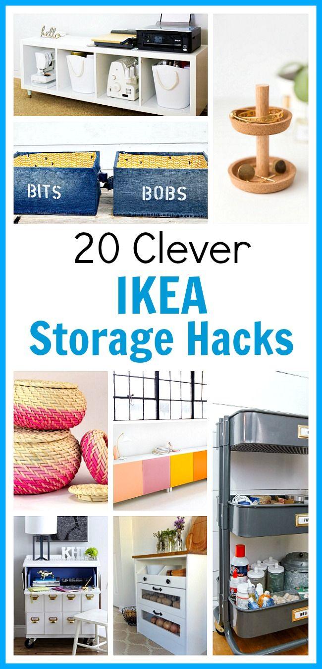 20 Clever Ikea Storage Hacks   Zuhause, Badezimmer und Rund ums haus