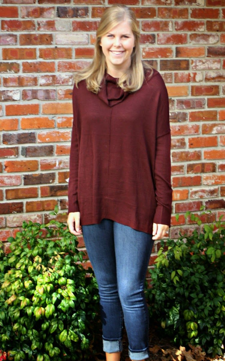 November Stitch Fix Reivew: RD Style Ridge Zipper Detail Cowl Neck ...