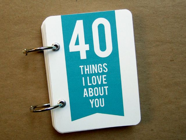 40 Things I Love About You minibook Gift 40 birthday and Birthdays