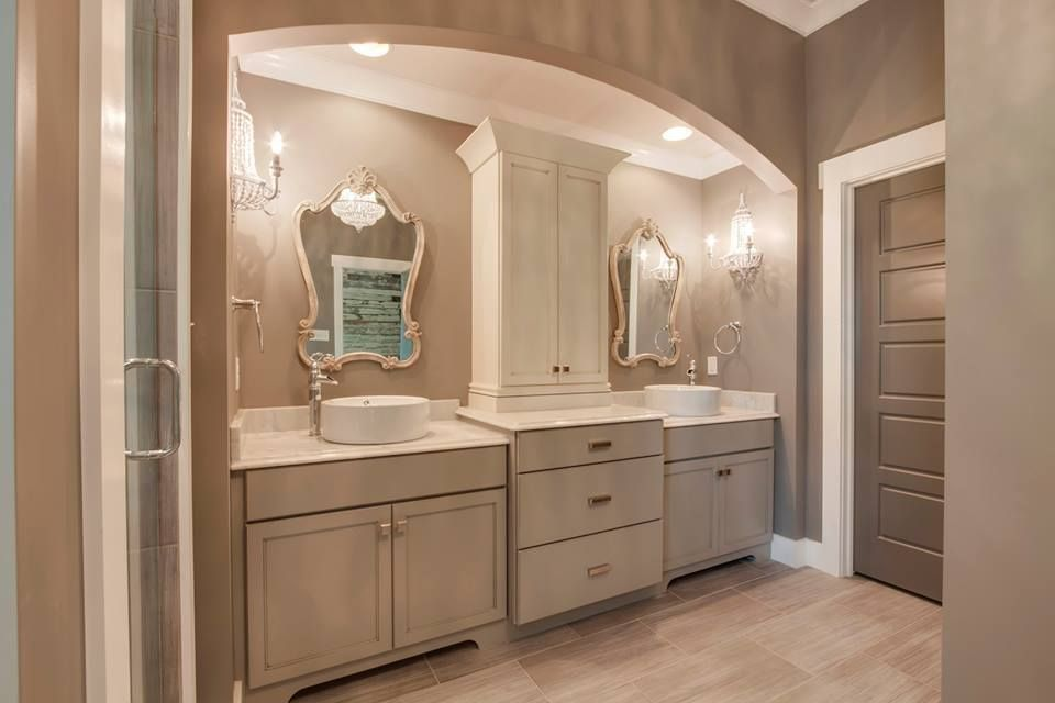 master bath vanity cabinet is kemper cabinetry lawton maple cloud paint with greystone glaze with - Bathroom Cabinets Knoxville Tn