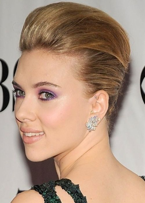 50 Best Updos for Short Hair   herinterest.com Scarlett ... скарлетт йоханссон рост вес
