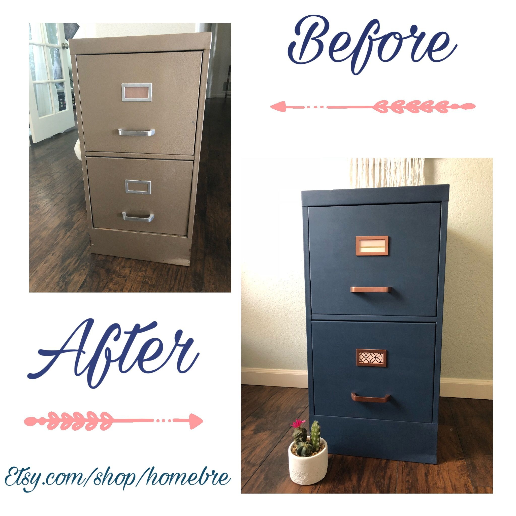 Filing Cabinet Makeover By Homebre On Etsy