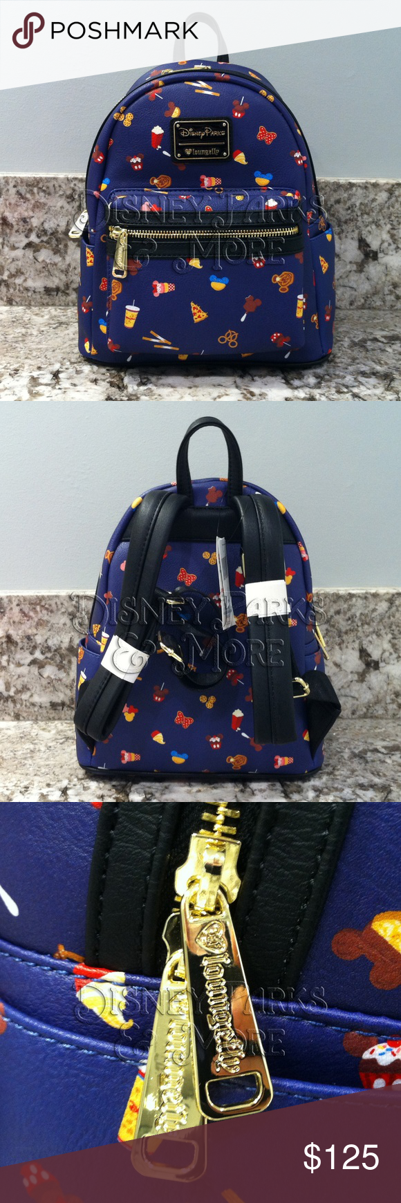 Disney Park Exclusive Backpack ZIP UP Sweet Treats CANDY Mickey Icons SACK NWT