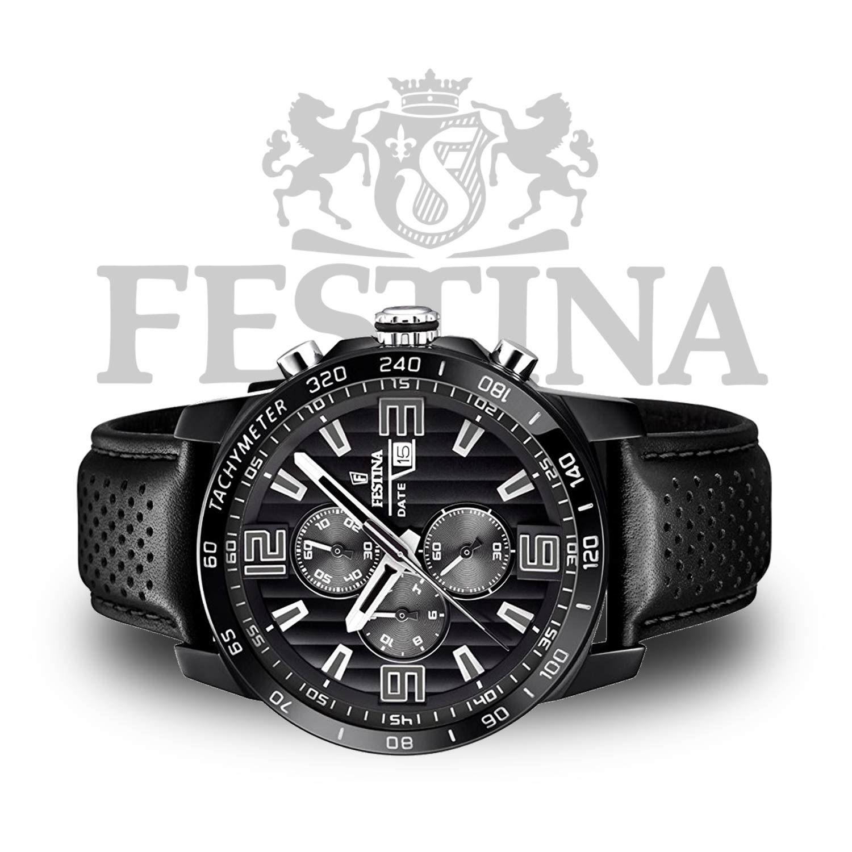Festina Chronograph F20339 6 Schwarze Herrenuhr Mit