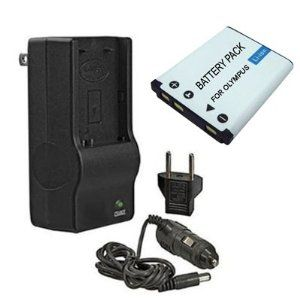 High Capacity Replacement Battery and Mini Rapid Charger For Olympus Stylus 790SW, 850SW and 1050SW Digital Cameras by Clear Max. $14.95. Compatible with Olympus 790SW, 850SW and 1050SW Digital Cameras The Mini Rapid Multi-voltage Charger plugs directly in to your wall outlet or your car's cigarette lighter and charges your Olympus battery in approximately 60 to 90 minutes. Its unique flat pin, foldable design allows easy storage and makes it the most compact battery ch...