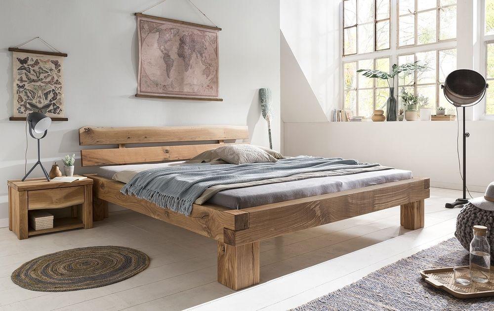 Details zu Massivholzbett Doppelbett Bettgestell Wildeiche