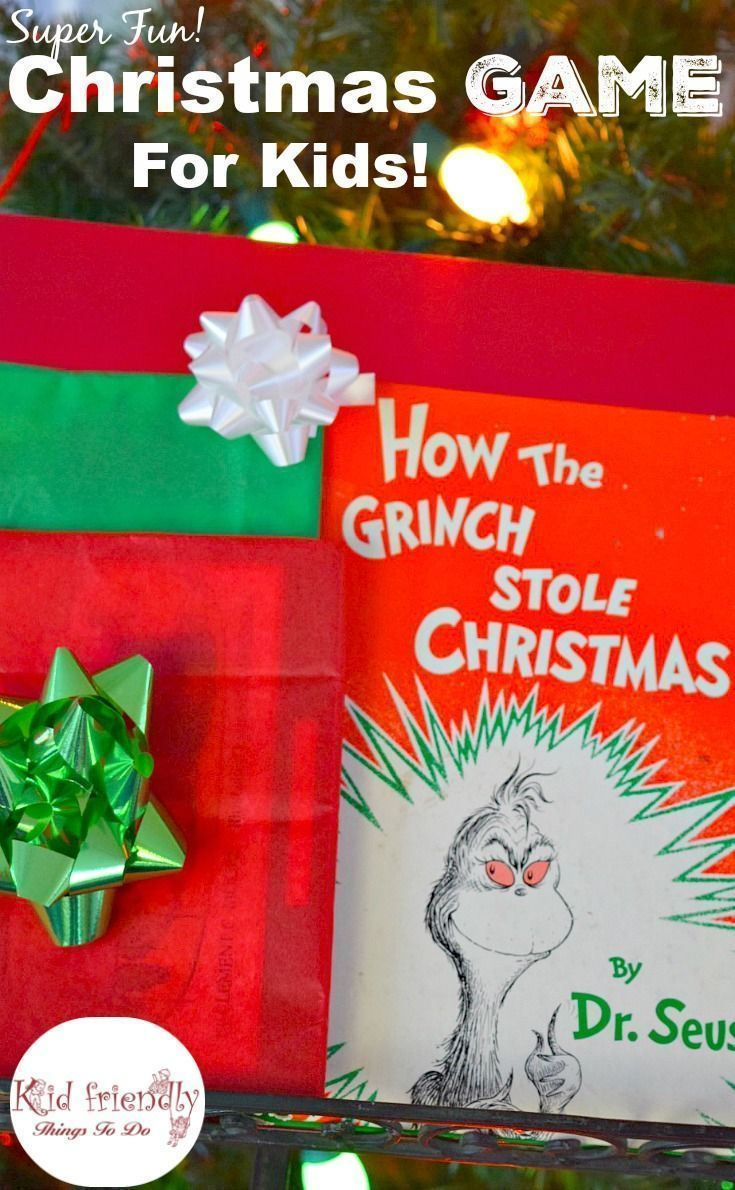 a fun holiday game for kids using how the grinch stole christmas its kind of like hot potato but better party game httpwwwkidfriendlythingstodo - How The Grinch Stole Christmas Games