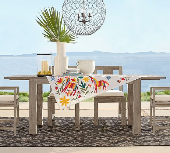 Pottery Barn Eco Furniture: Embroidered Tablecloth