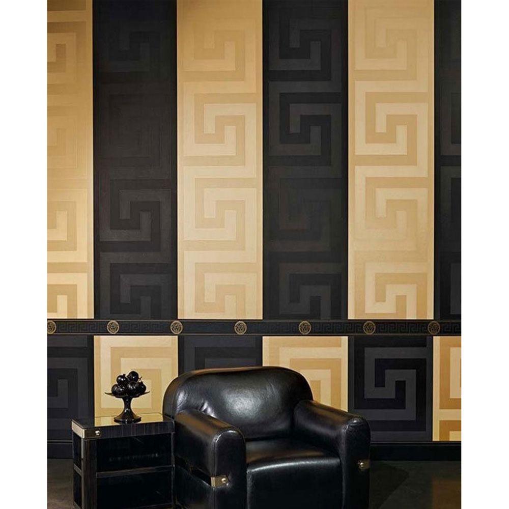 Versace Gold Greek Key Wallpaper 10m x 70cm 935232