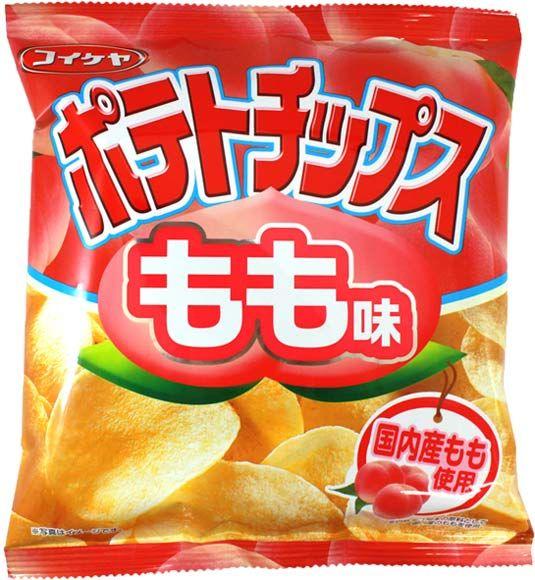 Koikeya Peach Flavor Potato Chips $1.50 http://thingsfromjapan.net/koikeya-peach-flavor-potato-chips/ #Japanese chips #Japanese snack #delicious Japanese snack