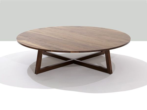 finn solid wood round coffee table