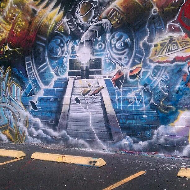 Mayan Graffiti Mural