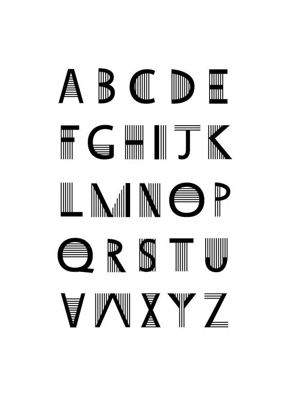 TYPOGRAPHY BAUHAUS STYLE by Laura Knox, via Behance