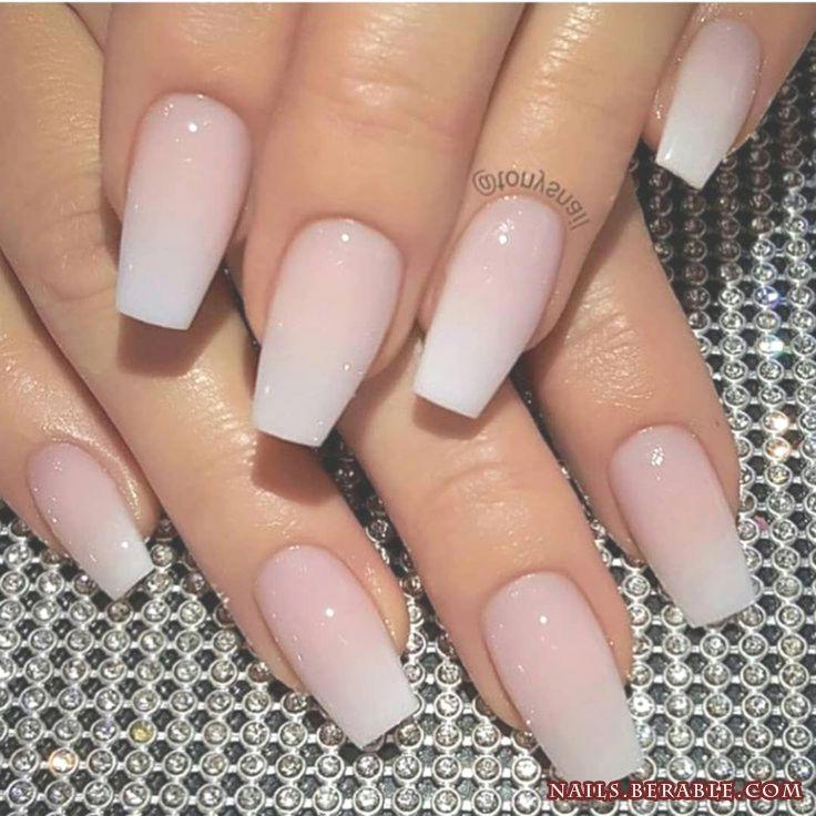 Новейшие акриловые ногти Art 2019 -   White acrylic nails