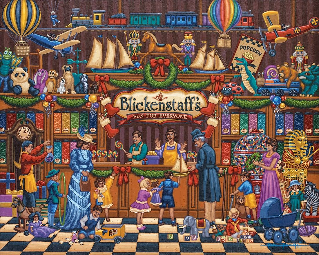 Vintage Toy Store By Eric Dowdle Toy Store Puzzle Art Vintage Toys