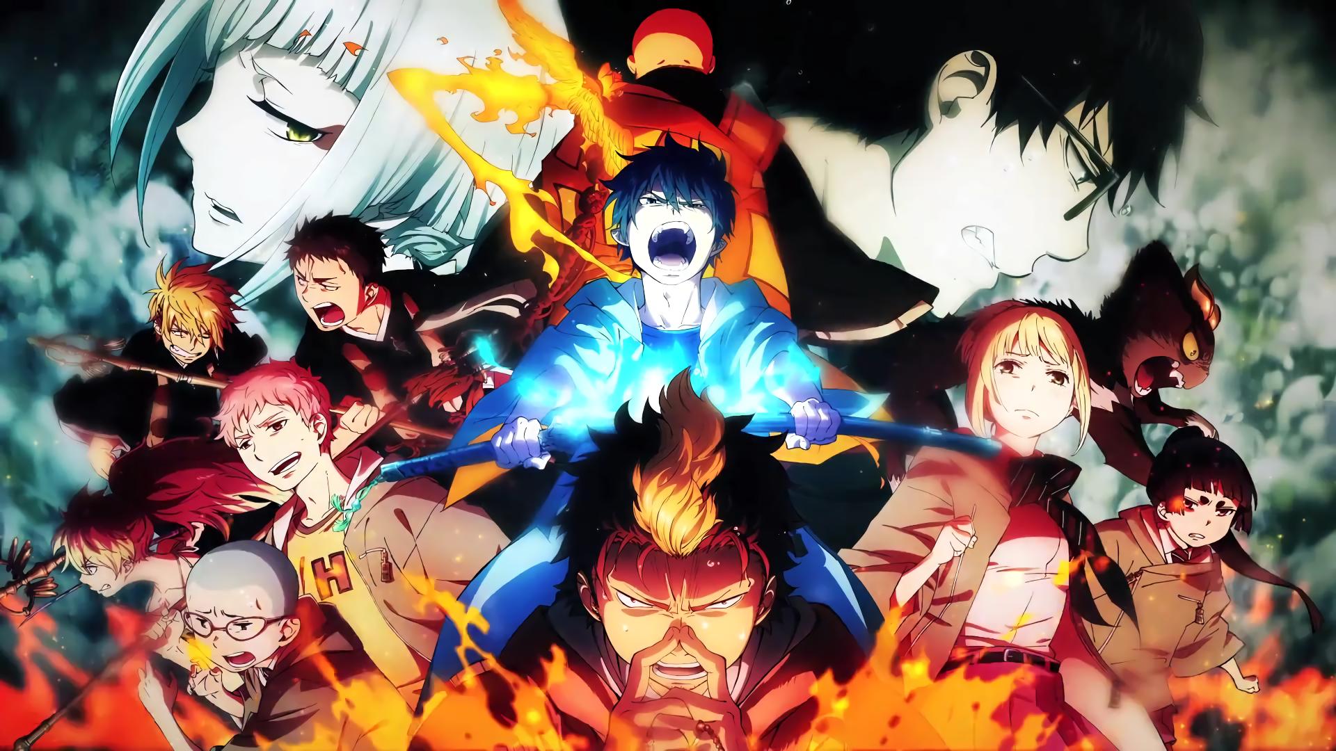 anime blue exorcist rin okumura yukio okumura shiemi moriyama kuro