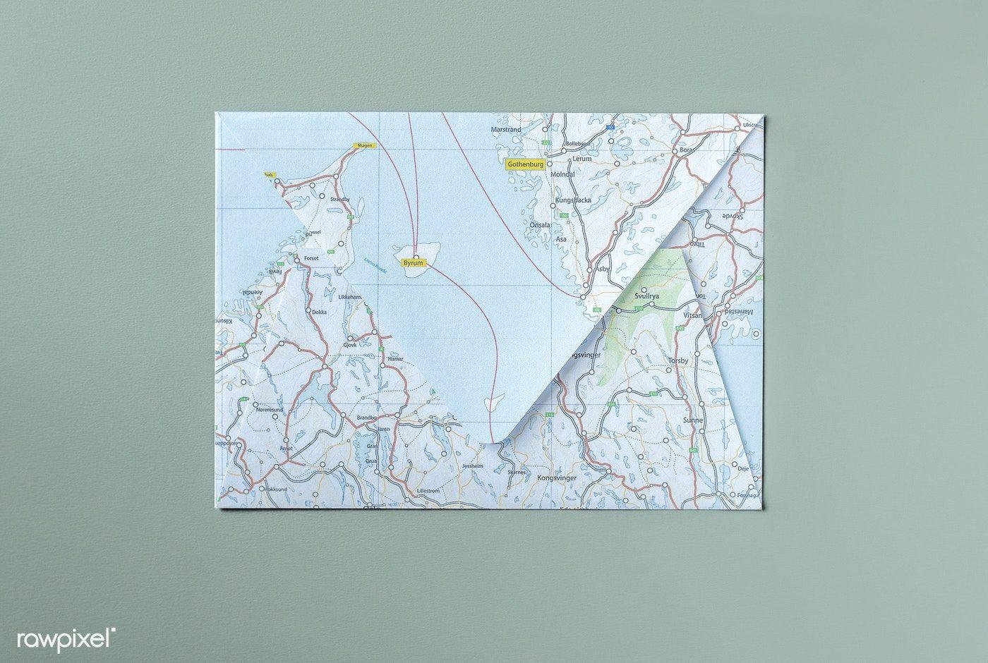 Download Premium Psd Of World Map Patterned Envelope Mockup 532021 Map Pattern Map Paper Map