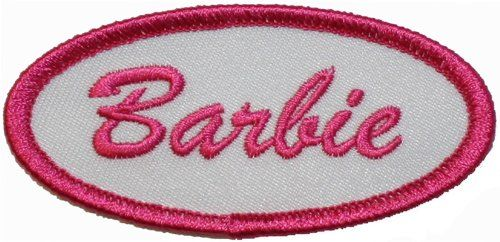 Barbie Name Tag Embroidered Iron On Patch Cool Patches