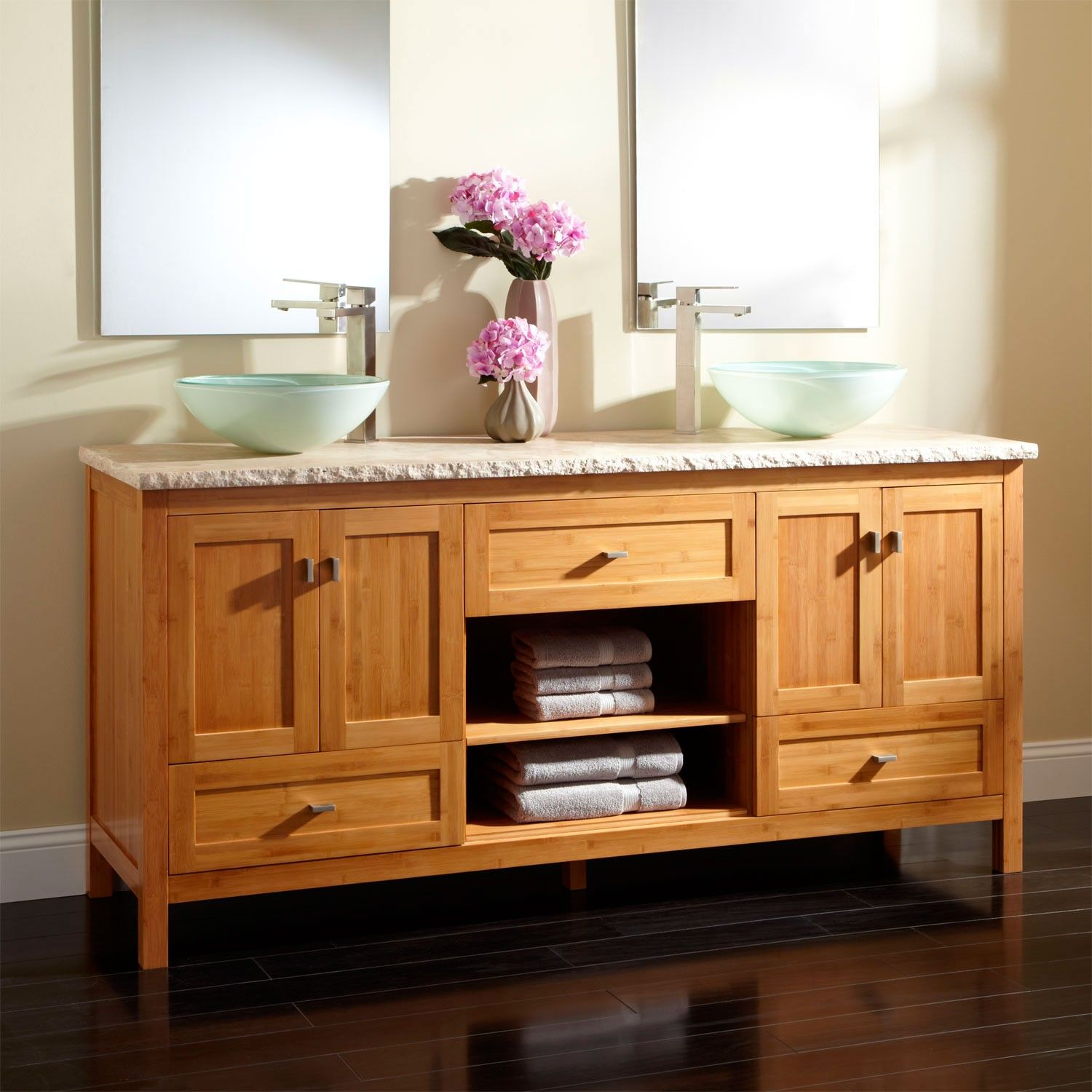 console pin with vanity acacia sink vessel rustic celebration