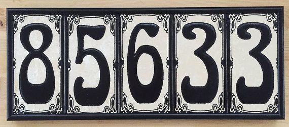 House Numbers Frame Metal Frame Address Tiles Frame House Sign Frames Decorative Tile Frame Tiles Sold Separately House Numbers Tile House Numbers Decorative Tile