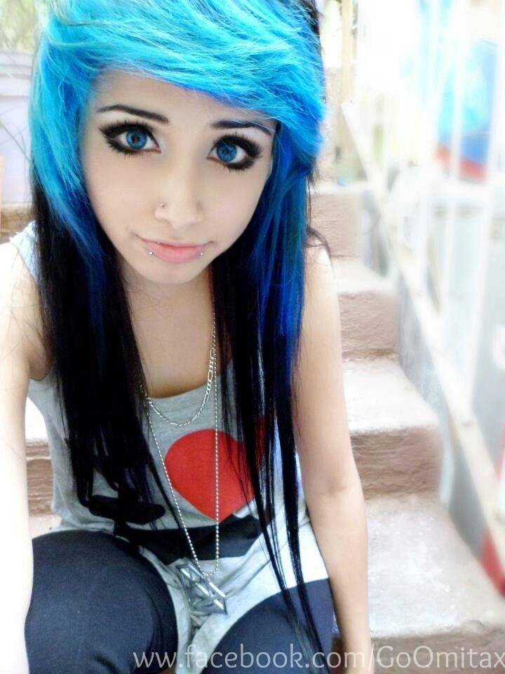 Omita Monster Emo girl Blue eyes Blue.and black hair | Emos ...