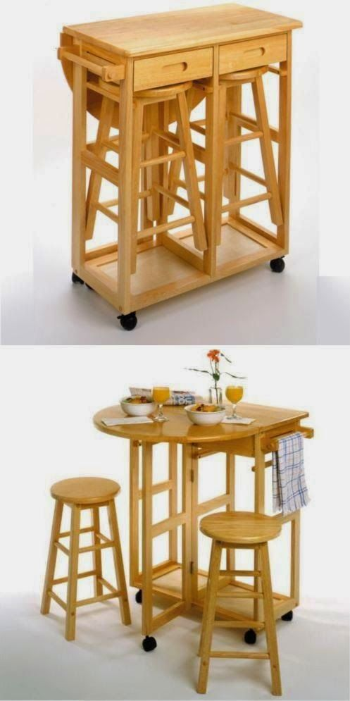 9 soluciones para ahorrar espacio en comedores peque os for Muebles para departamentos pequenos