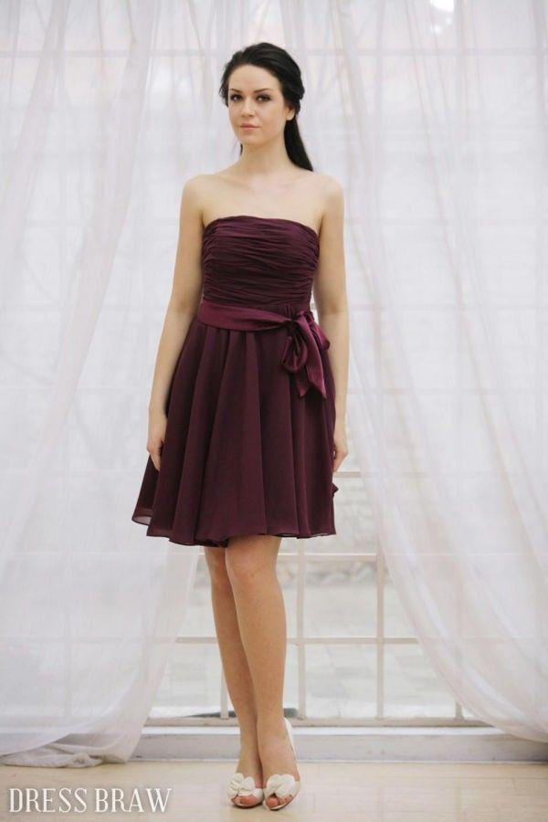 Dark purple short prom dress   Banquet Ideas   Pinterest   Purple ...