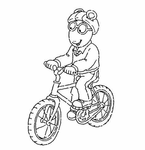 Pinta a Arthur en su bicicleta | Dibujos para colorear | Pinterest ...