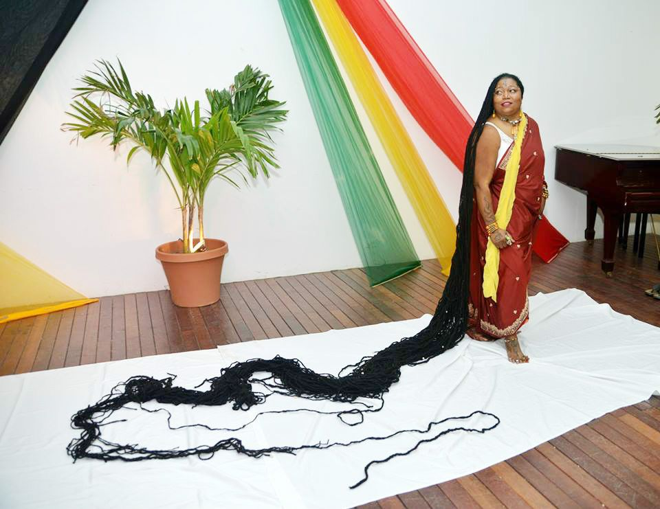 The Length Of This Woman S Hair Is 19ft Plus You Have Never Seen