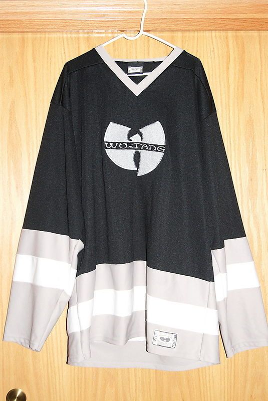 478a94bf99b Vintage 1990 s Wu Tang Clan Method Man Black Grey Hockey Jersey Shirt
