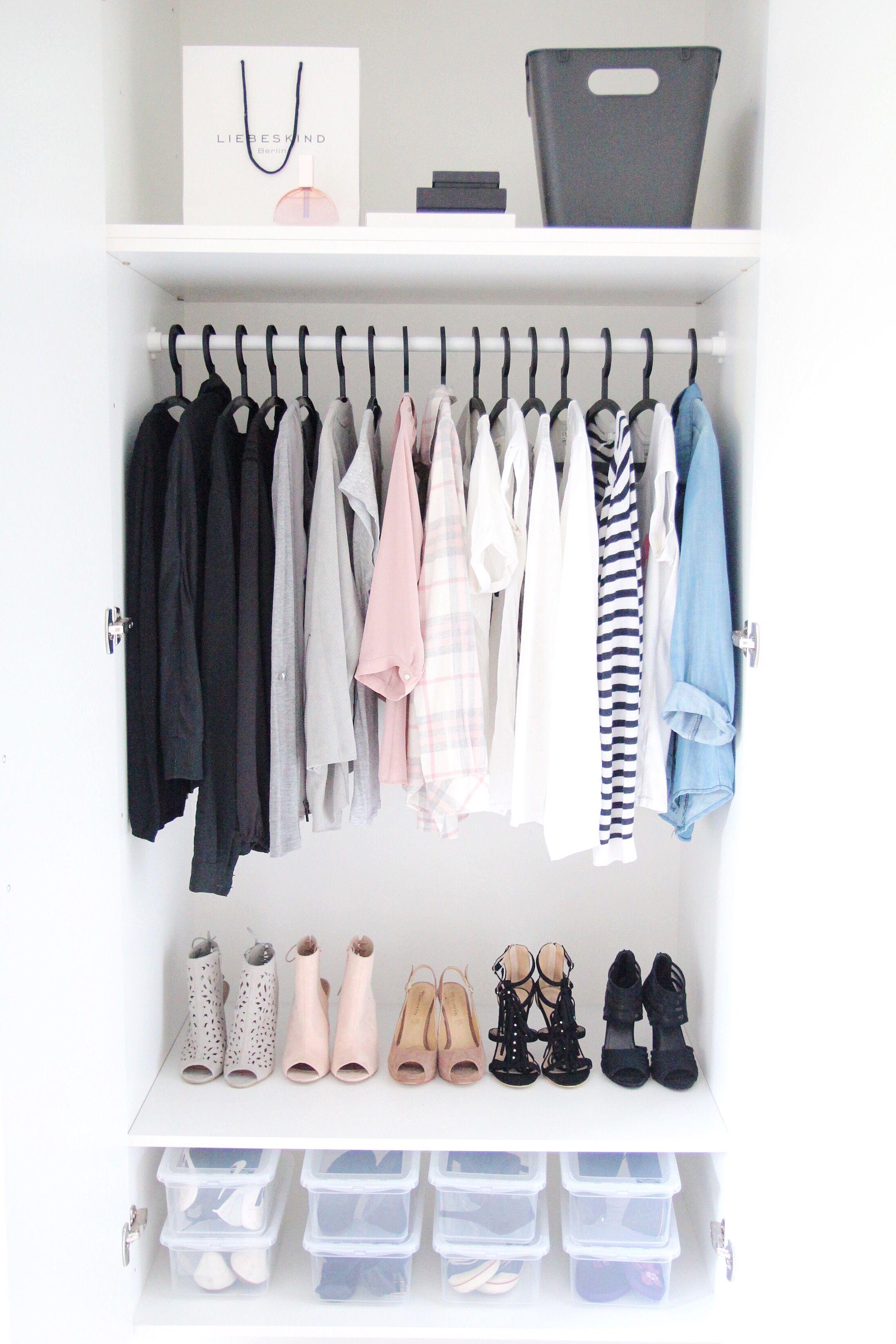 Fancy Endlich Ordnung im Kleiderschrank diese geniale Hacks f r Kleiderschrank ausmisten aufr umen und organisieren